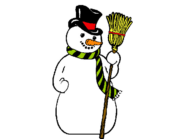 Dibujo de Muñeco de nieve simple (dibujo) pintado por 1marceline en ...