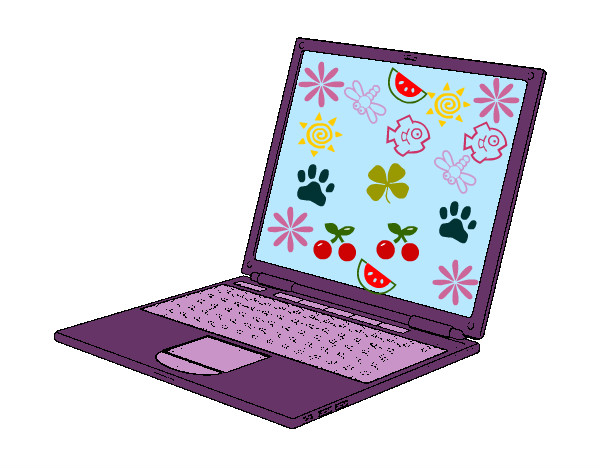 Laptop dibujo para colorear  Imagui
