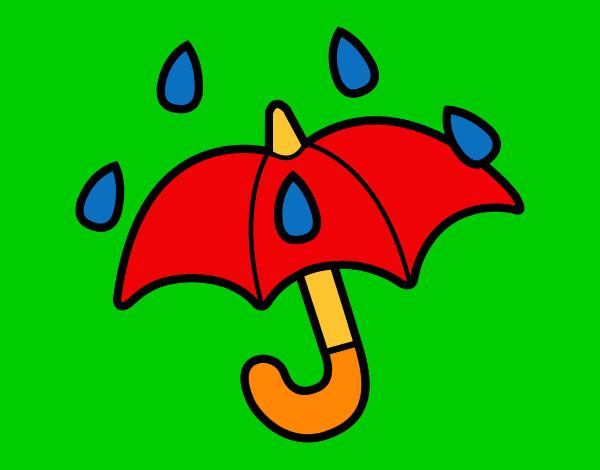 Dibujos De Paraguas Para Colorear E Imprimir: Imagenes Para Imprimir De Paraguas