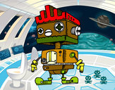 Dibujo Robot con cresta pintado por Manu2