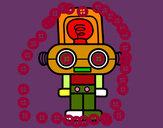 Dibujo Robot con luz pintado por alanvega