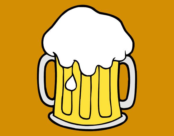 Dibujo De Cerveza Fría Pintado Por Jfrkffkkf En Dibujos