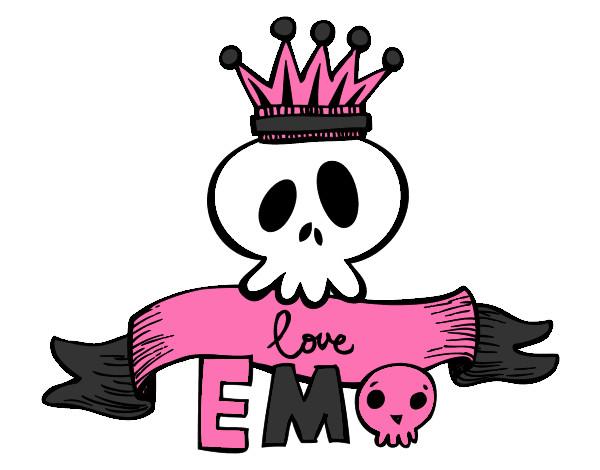 Dibujo de calavera emo pintado por Shelsytap en Dibujos.net el día ...