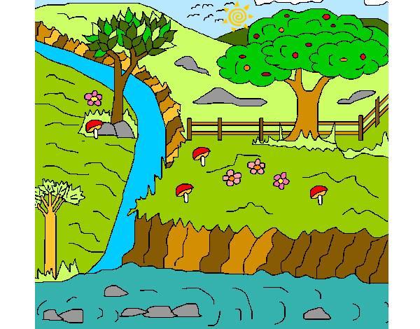 Dibujos el paisaje rural - Imagui