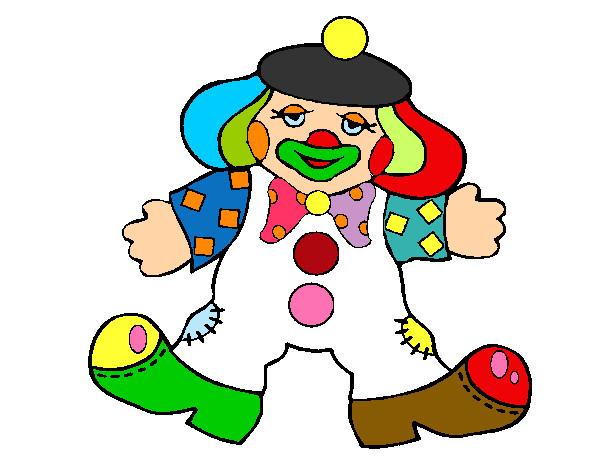 Dibujo de payaso colorido pintado por Julietk en Dibujos.net el ...