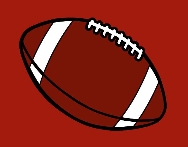 Dibujo De Jugador De Fútbol Con Balón Pintado Por Chicoxd: Balonde Futbol Americano