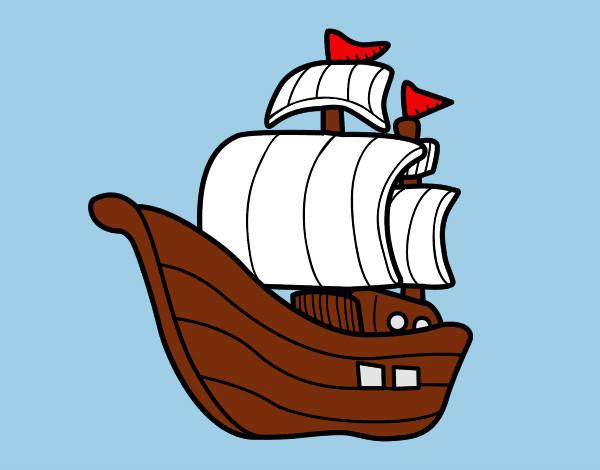 Dibujos de veleros para colorear - Imagenes de barcos infantiles ...