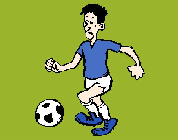 Dibujo De Jugador De Fútbol Con Balón Pintado Por Chicoxd: Dibujo De Jugador De Fútbol Pintado Por Jfrkffkkf En