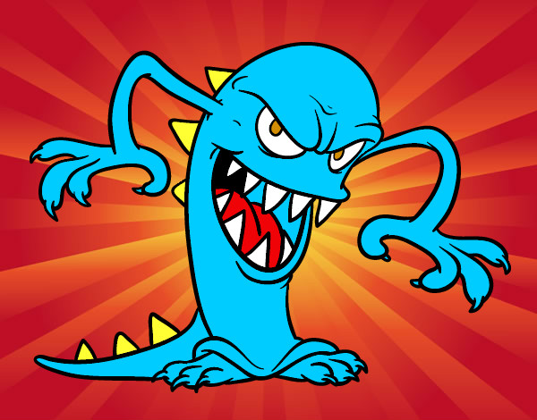 Dibujo De Monstruo Malvado Para Colorear: Dibujo De Monstruo Malvado Pintado Por Nickanita En