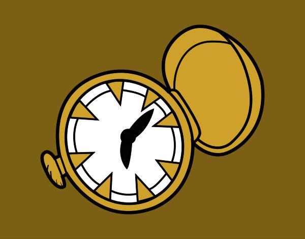 Worksheet. Dibujo de reloj de bolsillo pintado por Jfrkffkkf en Dibujosnet