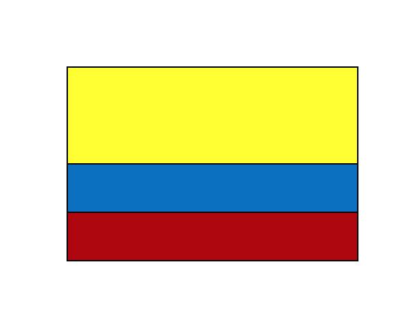 Dibujo De La Bandera De Colombia Para Colorear Dibujo De Bandera De Colombia Pintado Por