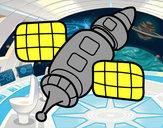 Dibujo Estación espacial pintado por rios