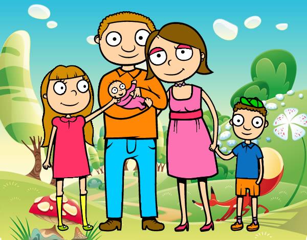 Dibujo de otra buena familia pintado por Gariru en Dibujosnet el
