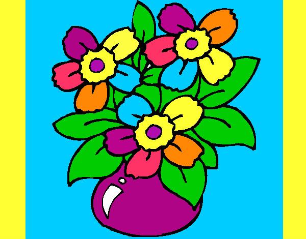 Dibujo de flores de colores pintado por Inariama en Dibujosnet el