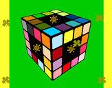 Dibujo Cubo de Rubik pintado por nuevo