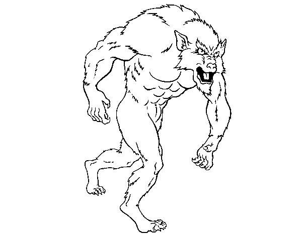 Dibujo de hombre lobo pintado por yamiil en el for Fantastici disegni di garage