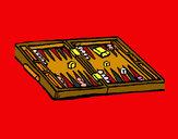 Dibujo Backgammon pintado por charito