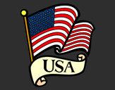 Dibujo Bandera de los Estados Unidos pintado por IvaMLove