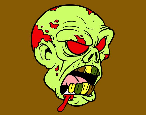 Dibujo De Cabeza De Zombi Para Colorear: Dibujo De Cabeza Zombie Pintado Por Nimacort En Dibujos