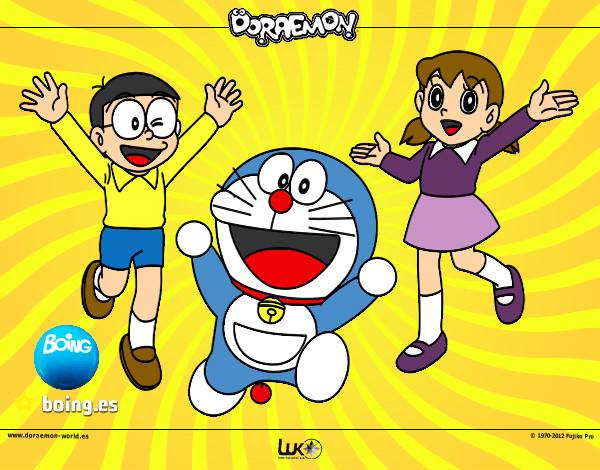 Doraemon,Novita y Sisuca