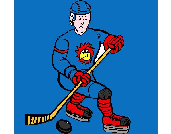 Dibujos Para Colorear Jugador De Hockey: Dibujo De Hockey Pintado Por Nimacort En Dibujos.net El