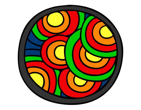 Mandala circular pintado por totin - Dibujos infantiles para imprimir pintados ...