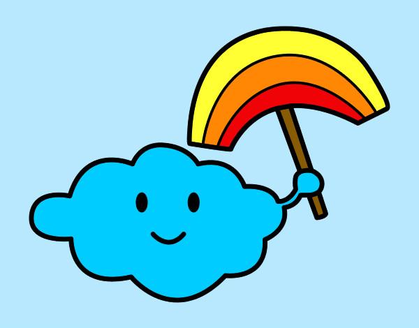 Nube Y Arcoiris Dibujos