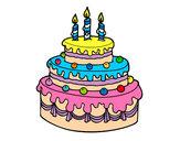 Dibujo Tarta de cumpleaños pintado por joselyn112