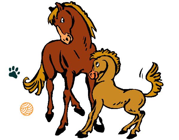 Dibujo de caballos pintado por Jina en Dibujosnet el da 091012