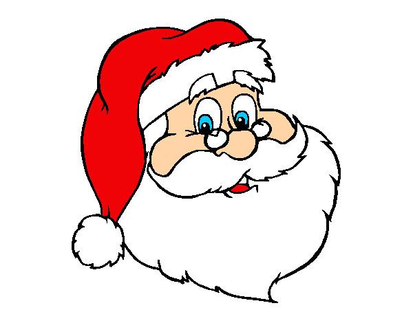 Dibujo de cara de pap noel pintado por tanxita en dibujos for Dibujos de navidad pintados