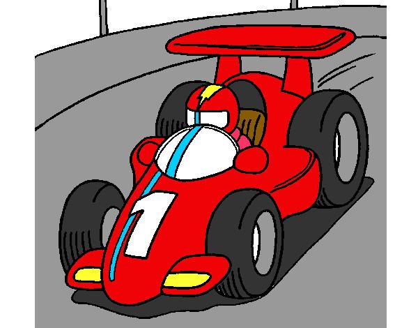Dibujo de Coche de carreras pintado por Camila121 en Dibujosnet