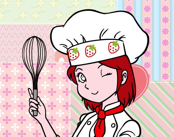 Dibujo de la pastelera pintado por molacu en - Dibujos de cocineros para colorear ...