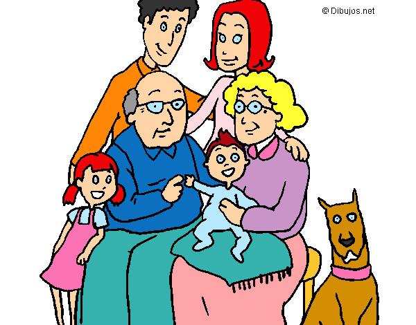 Dibujo de Familia pintado por Luna30055 en Dibujosnet el da 12
