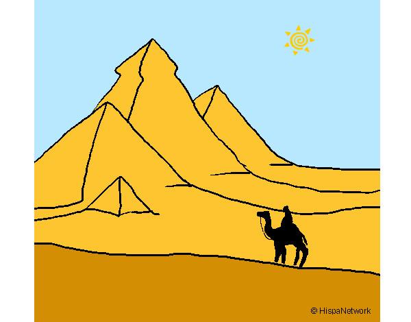 Dibujo de las antiguas piramides pintado por Nacor en Dibujosnet