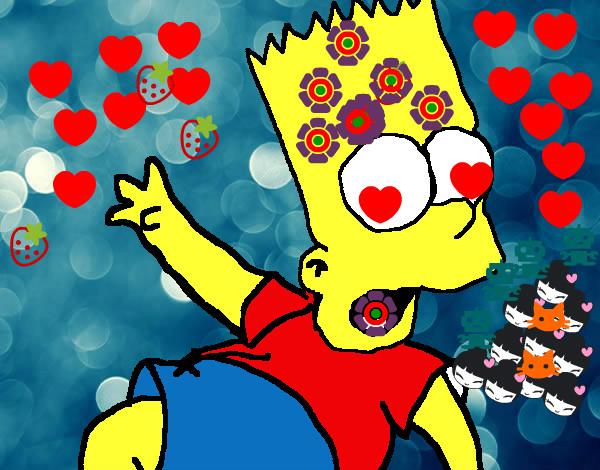 Dibujo de bart enamorado xd. pintado por Piezitos en Dibujos.net ...