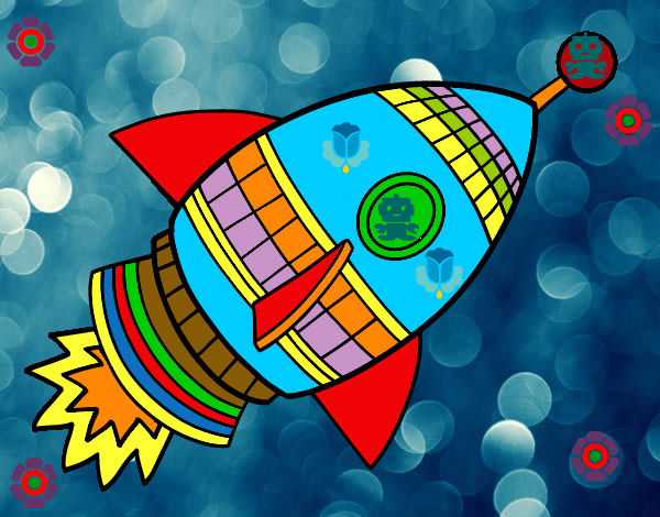 Dibujo de cohete antonio soto pintado por marianm en - Dibujos infantiles del espacio ...
