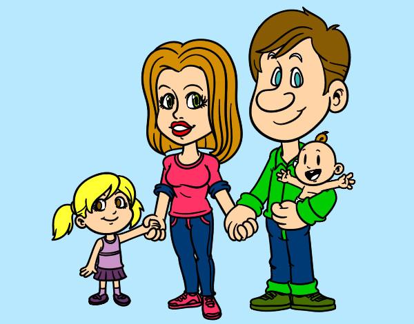 Dibujo de la familia pintado por Myryan en Dibujosnet el da 19