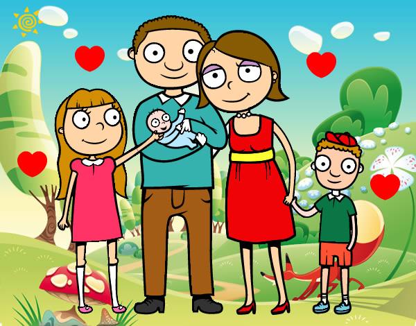 Dibujo de Familia unida pintado por Kitty- en Dibujos.net el día ...