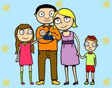 Dibujo Familia unida pintado por Myryan