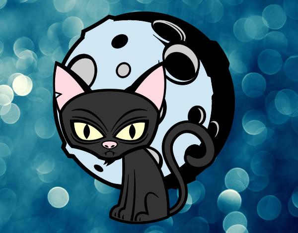 Dibujo De Fantasma Tenebroso Para Colorear: Dibujo De Gato Tenebroso Pintado Por Victitor En Dibujos