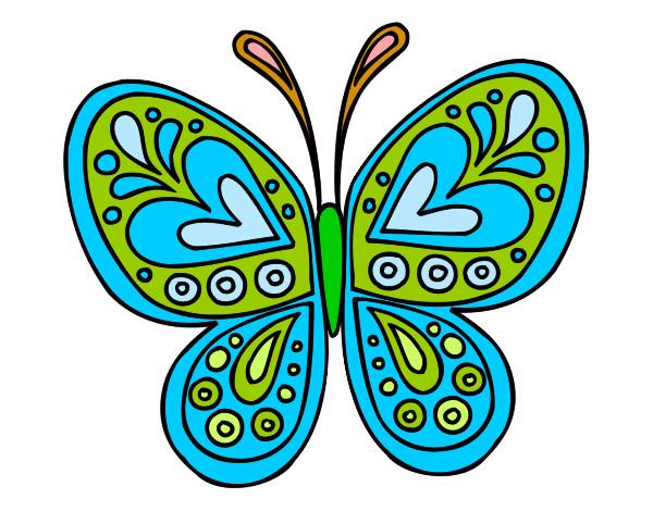 Dibujos De Mariposas Infantiles A Color: Dibujo De La Mariposa Colorina Pintado Por Superkei En