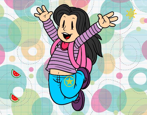 Dibujo De Niña Feliz Pintado Por Salma1 En Dibujos.net El