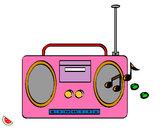 Dibujo Radio cassette 2 pintado por iara2000