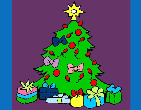 Dibujos De Arboles De Navidad Pintados.Dibujo De Navidad Pintado Por Zoeliux En Dibujos Net El Dia
