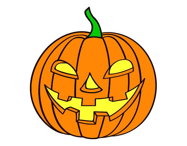 Dibujo de calabaza pintado por emmacarol en el - Calabazas halloween para imprimir ...