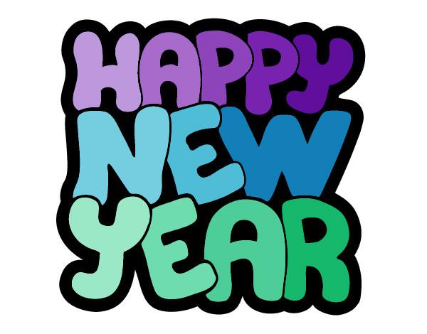 Dibujo de Feliz año nuevo pintado por Saradeju en Dibujos ...