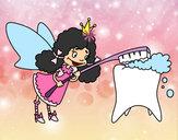 Dibujo Hada de los dientes pintado por fativalen
