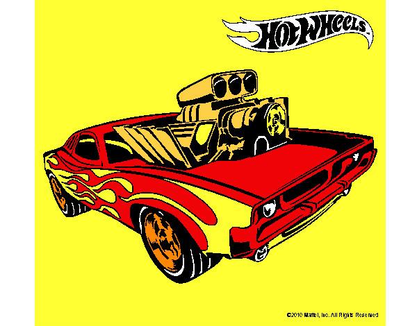 Dibujo de Hot Wheels 11 pintado por Alvaromon en Dibujosnet el