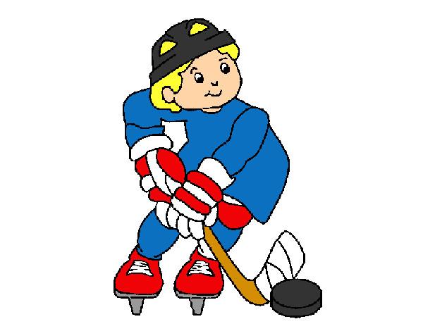 Dibujos Para Colorear Jugador De Hockey: Dibujo De Hockey Pintado Por Adrianfer En Dibujos.net El