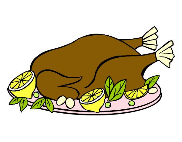 Dibujo de Pollo asado pintado por Anniemch en Dibujos.net el día ...